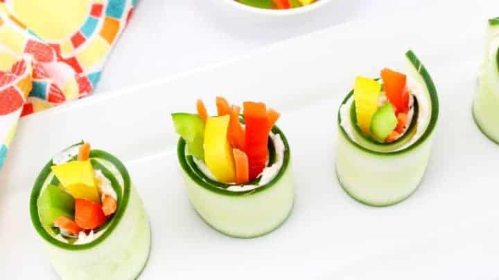 healthy cucumber bites