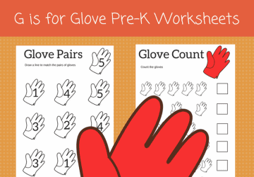 glove preschool printables