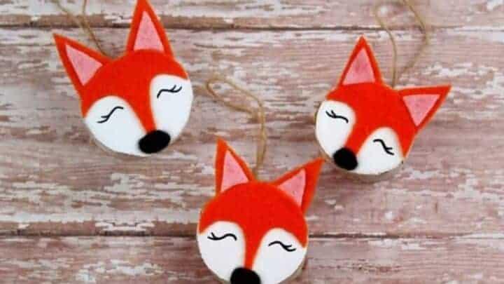 DIY Wooden Fox Craft