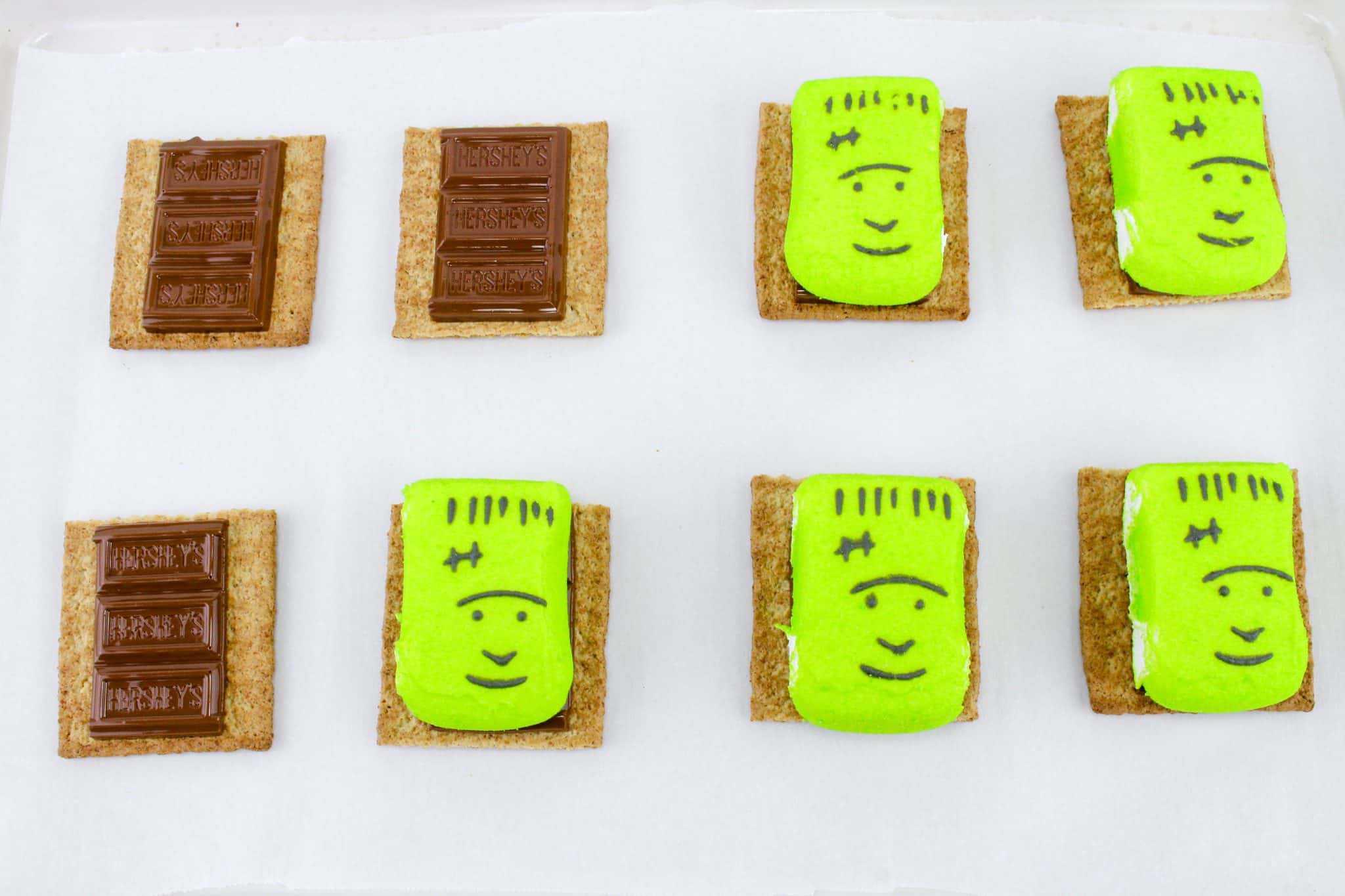 frankenstein smores a halloween party food idea