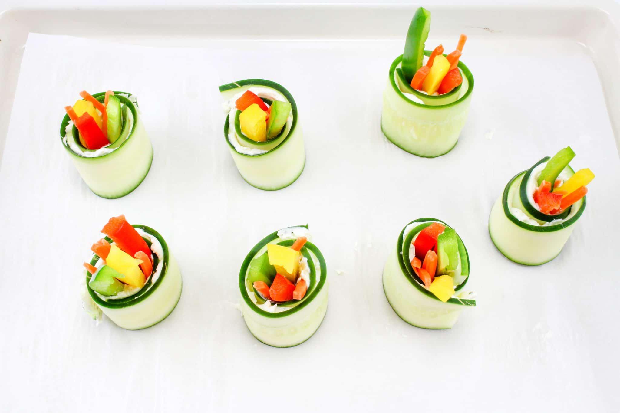 Tasty Vegetable and cucumber bites recipe