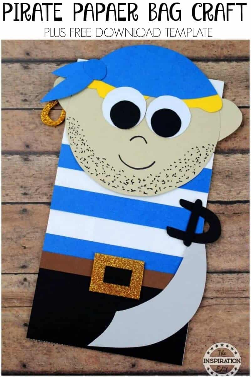 Pirate paper bag craft
