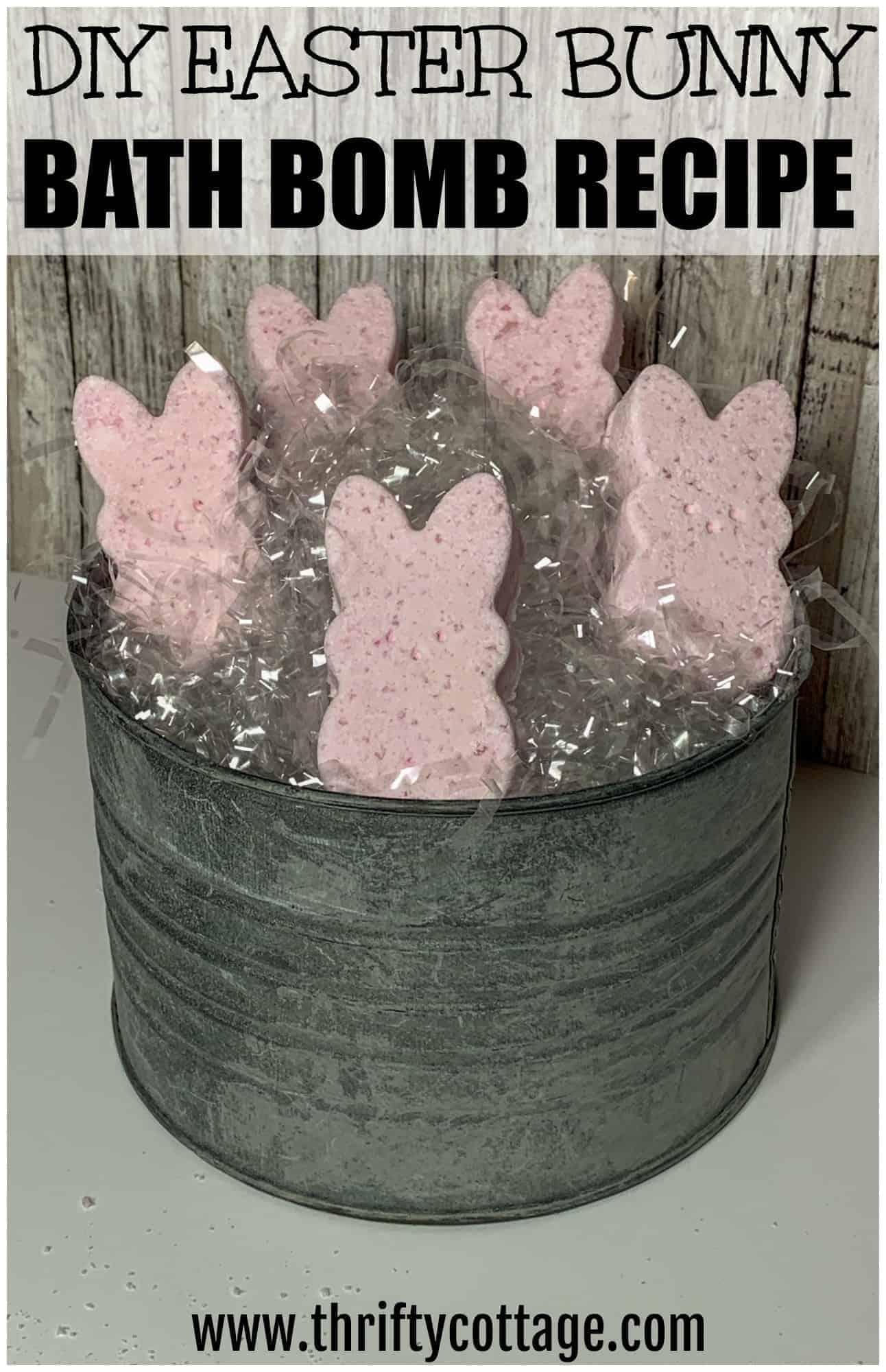 diy easter bunny bath bombs recipe