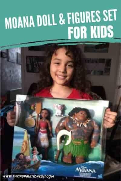 disney moana doll and figures set