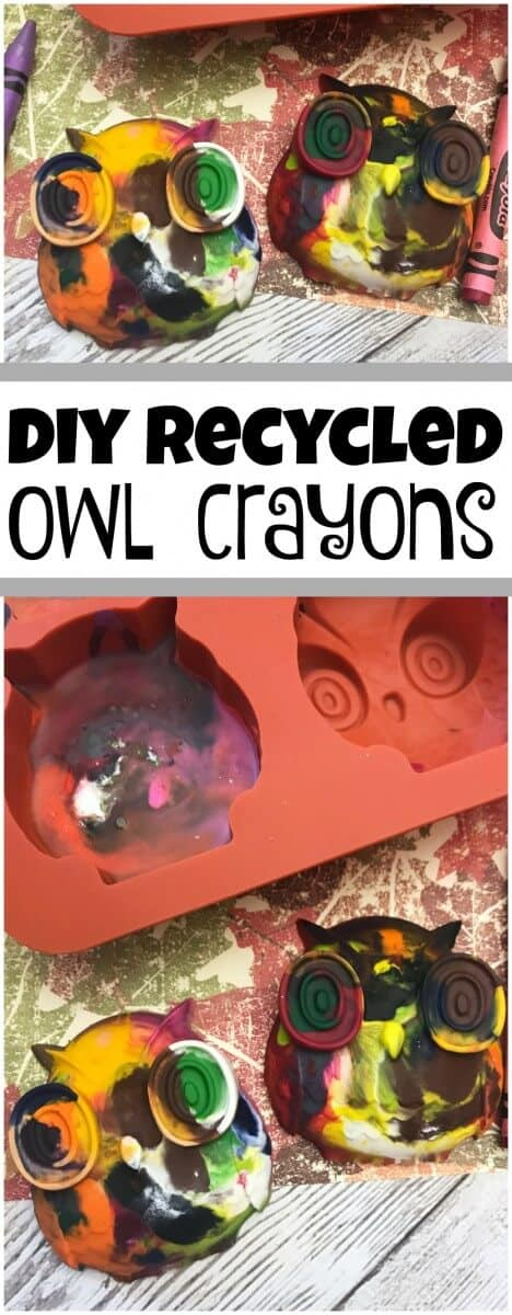 how to melt crayons diy recycled owl crayons