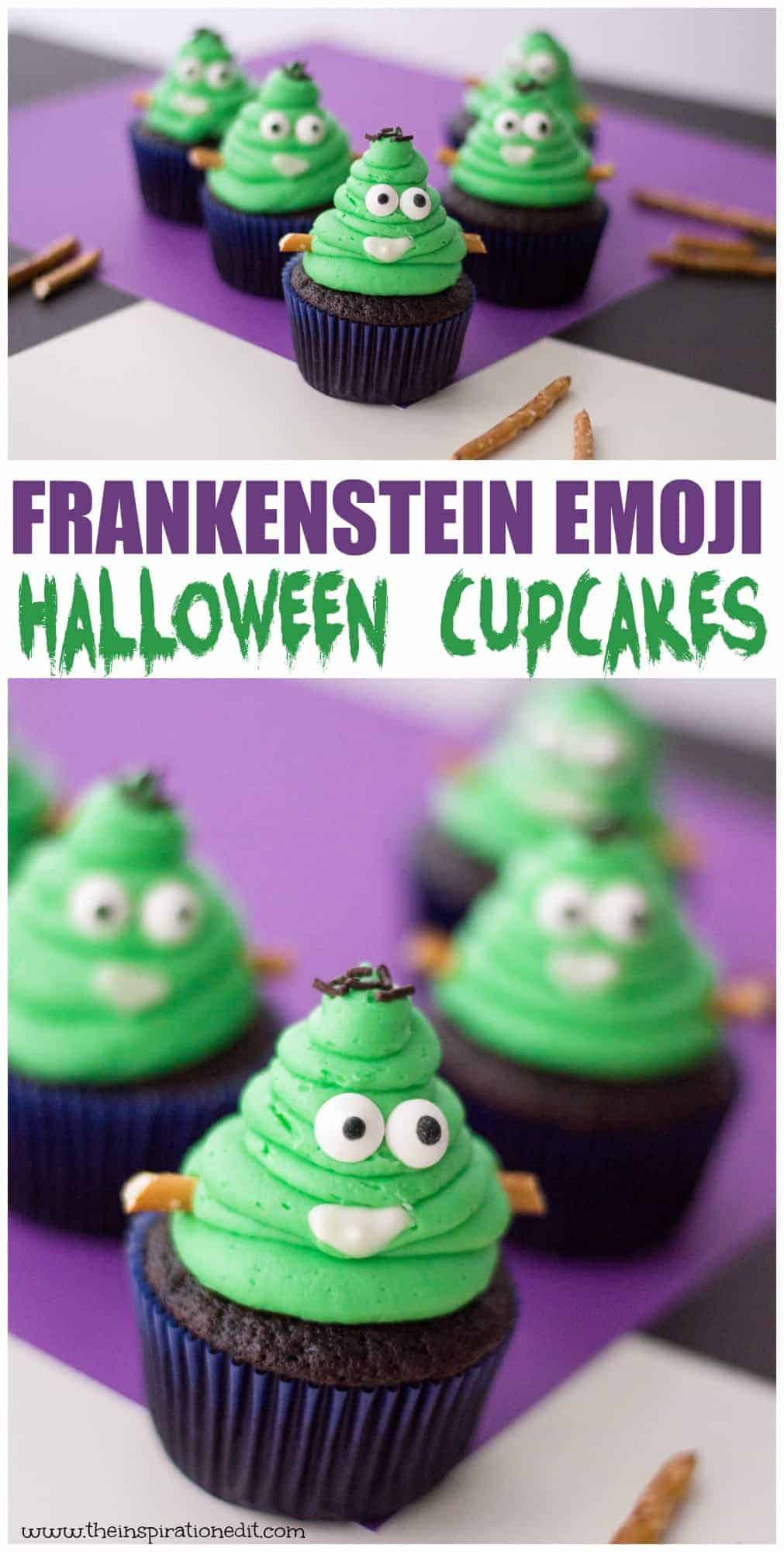 frankestein monster halloween cupcakes