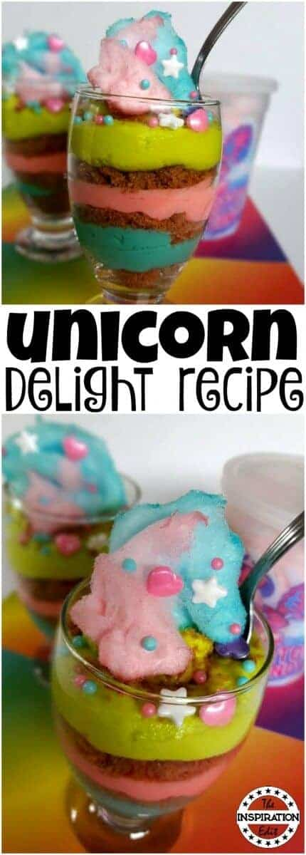 Unicorn cheesecake parfait