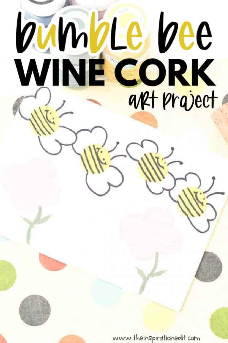bumble bee wine cork craft
