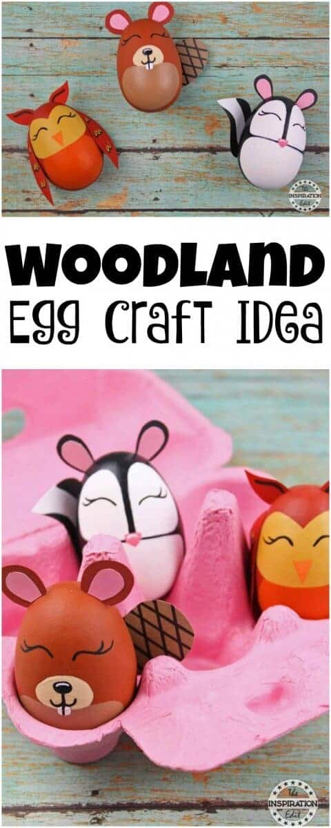 woodland eggs craft
