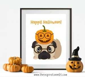 Happy Halloween Pug Art