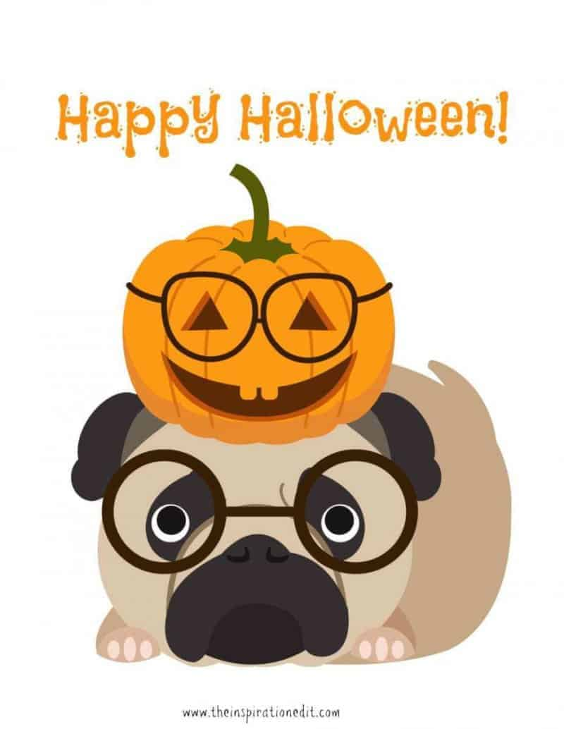Happy Halloween Dog Art