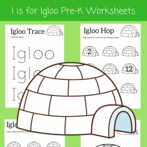 letter I preschool worksheets
