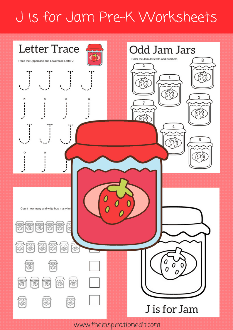 Letter J Worksheets For Preschoolers Free Download