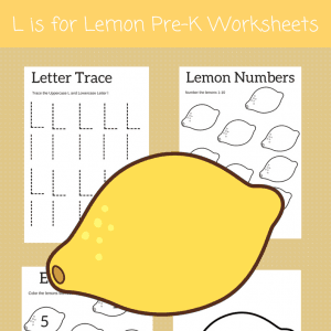 Letter L worksheets for preschool