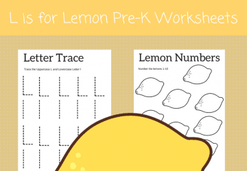 L is for Lemon preschool sheets