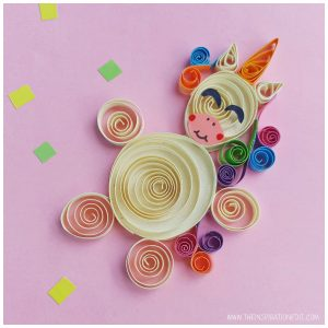 Unicorn pictures paper unicorn quilling craft