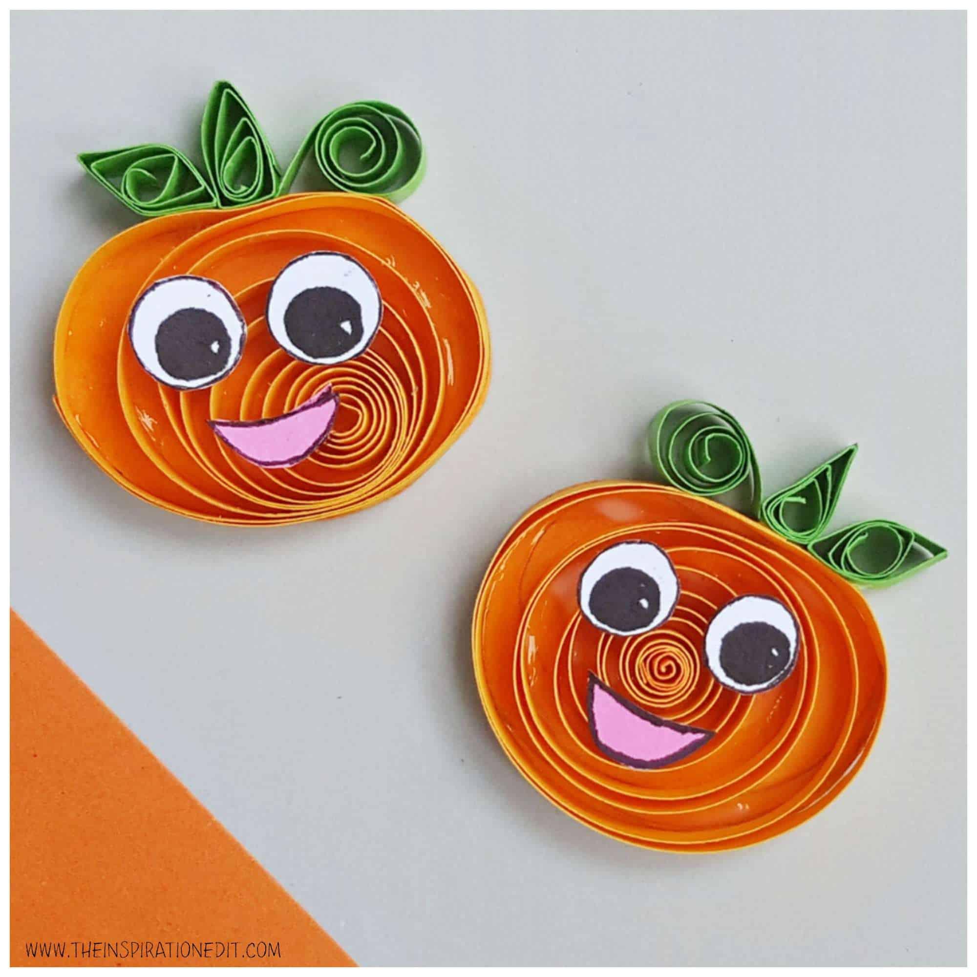 quilled pumpkin halloween craft