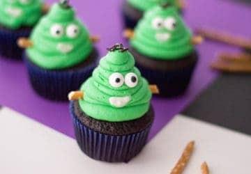 Frankenstein Monster Halloween Cupcakes