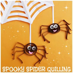 paper spider quilling project