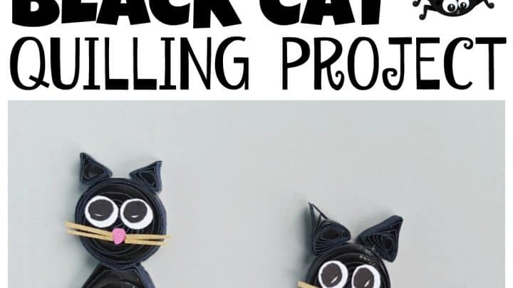 black cat quilling project