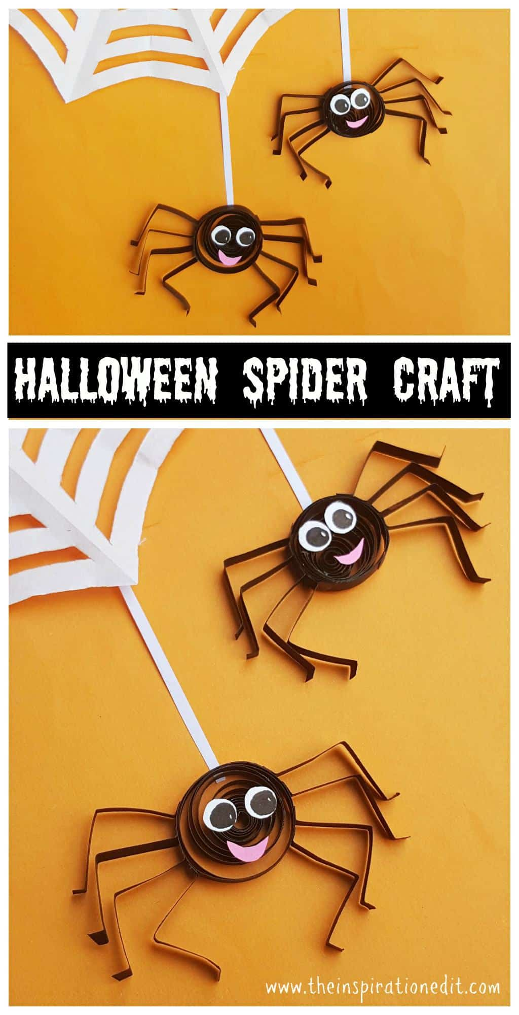 This is a fantastic step by step tutorial for a Quilled spider halloween craft
