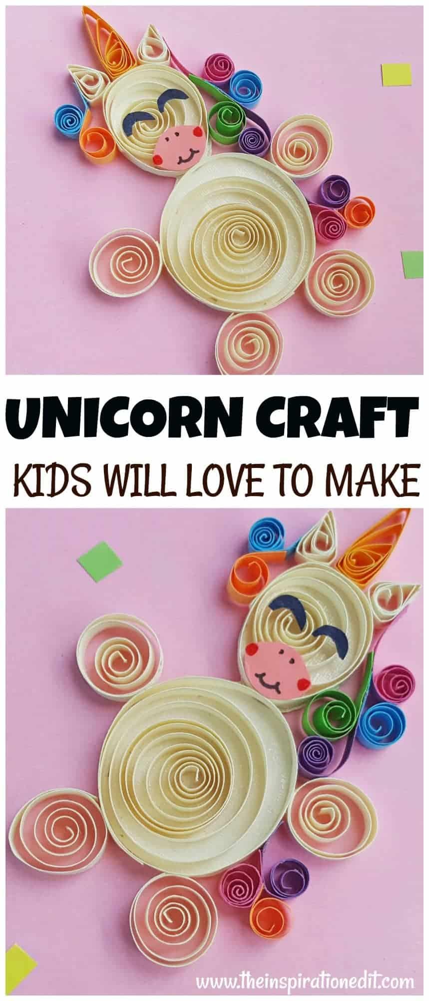 unicorn pictures kids craft idea unicorn quilling