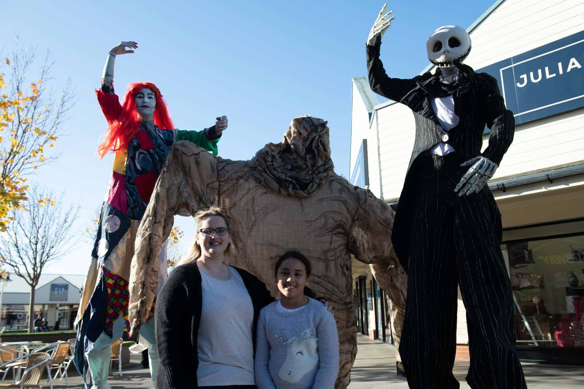 meeting halloween characters at affinity lancashire
