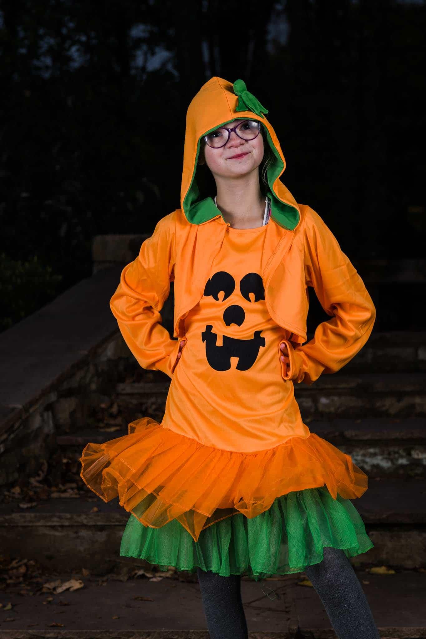 halloween pumpkin costume for girls form Funidelia