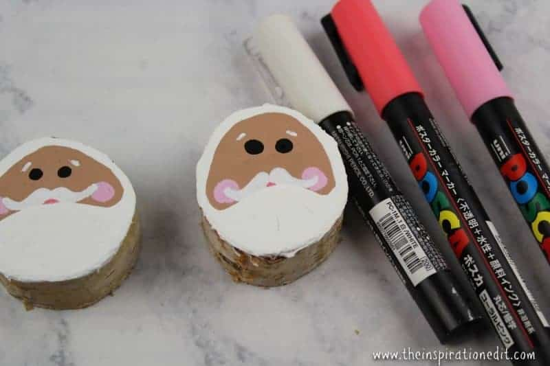 Wooden Santa Decoration For Kids