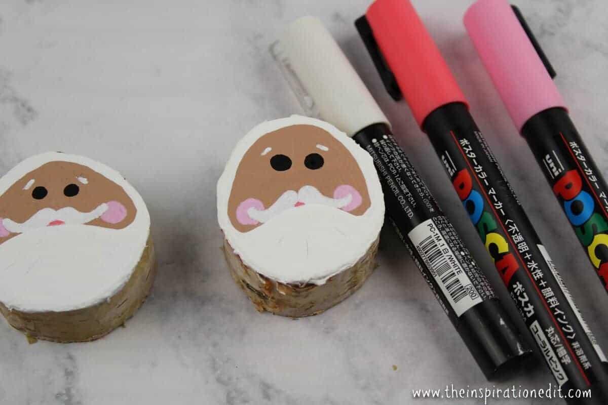 Wooden Santa Decoration For Kids