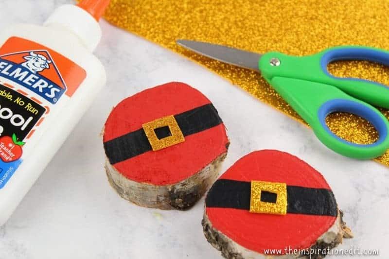 wooden santa decoration craft idea