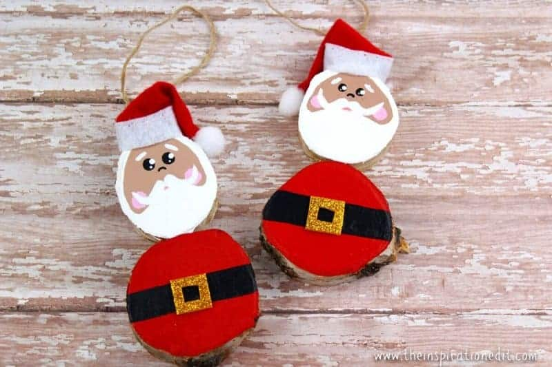 wooden santa decoration craft idea