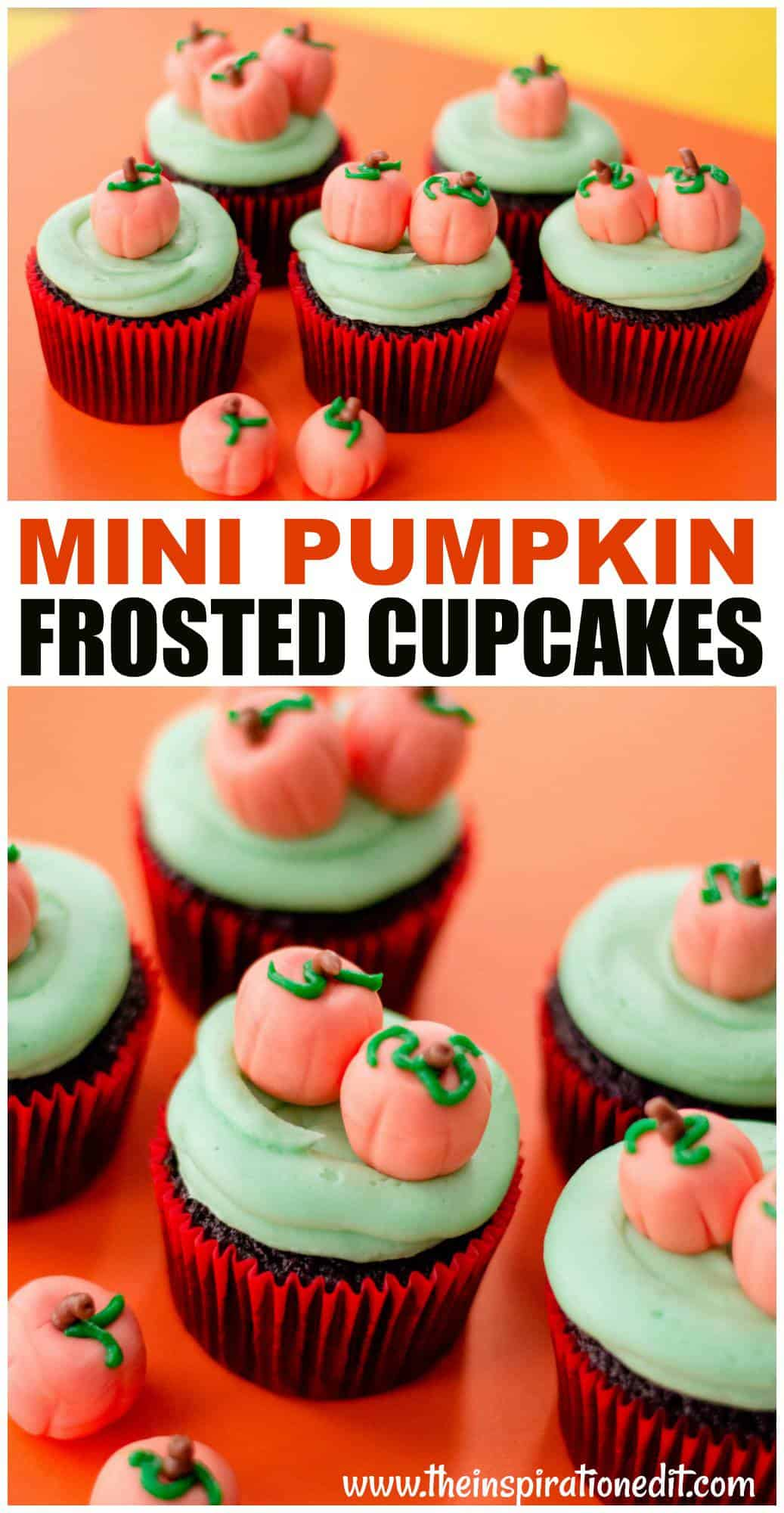 pumpkin cupcakes frosted