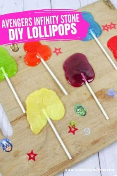 diy lollipops avengers