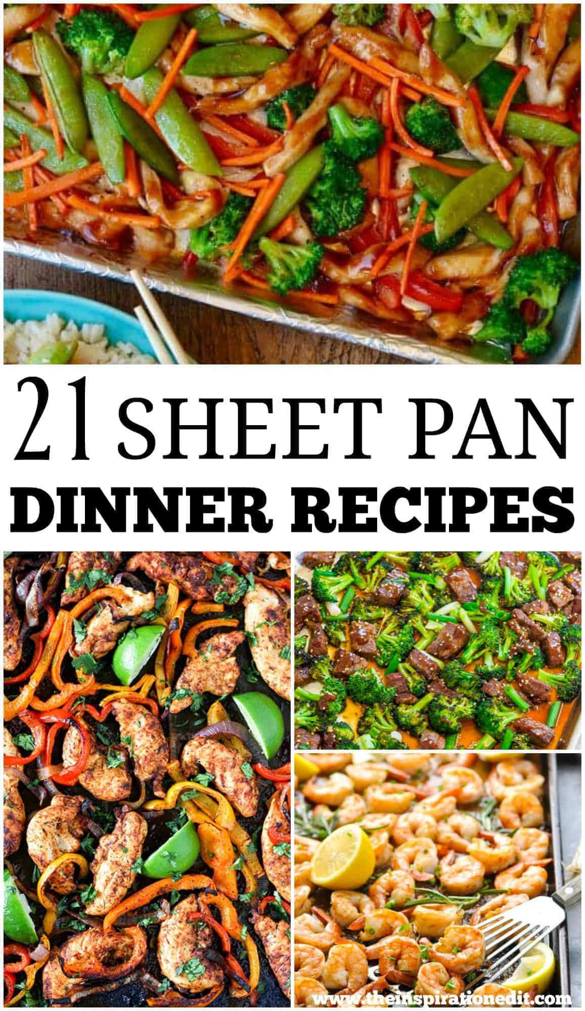 21 Sheet Pan Dinner Recipes For Busy Nights. These fantastic family recipes are great for family meals and easy recipe ideas. #Sheetpan #sheetpanmeal #sheetpandinners #recipes #healthyrecipes #highprotein #chickenrecipes #familymeals #familyrecipes #dinnerrecipes #dinnerideas #winterrecipes #tastyrecipes #healthyrecipes #healthyeating #healthyfood