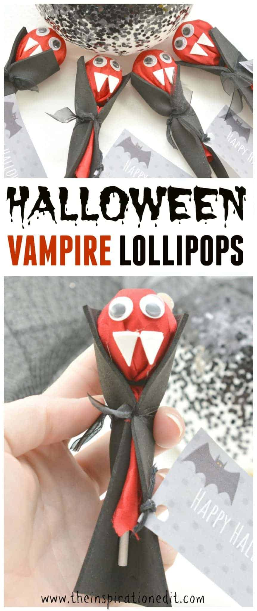 DIY Vampire Lollipops For Halloween