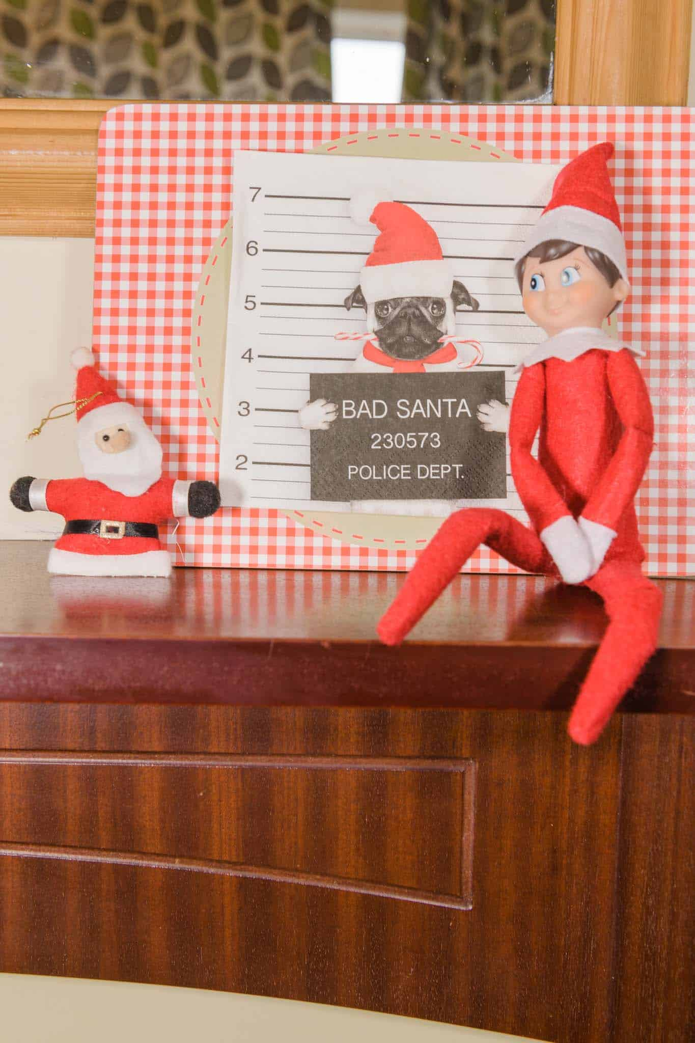 easy elf on the shelf ideas... a naughty elf