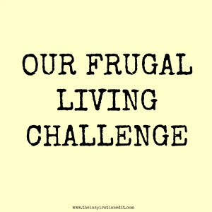 our frugal living challenge living on a budget