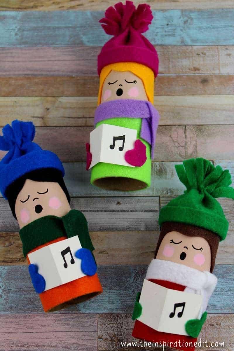 toilet tube christmas decoration