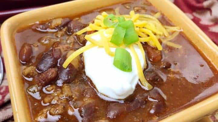 Instant Pot Chilli with Ground Beef