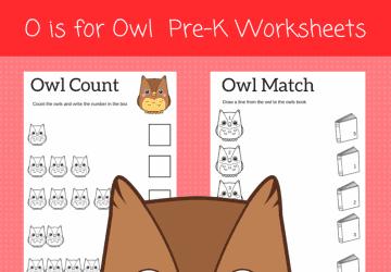 O is for Owl Preschool Worksheets