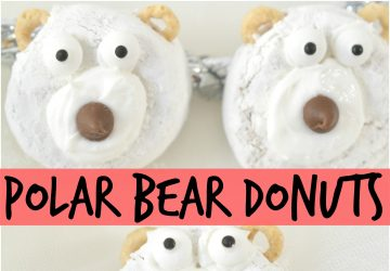 POLAR BEAR CHRISTMAS DONUTS