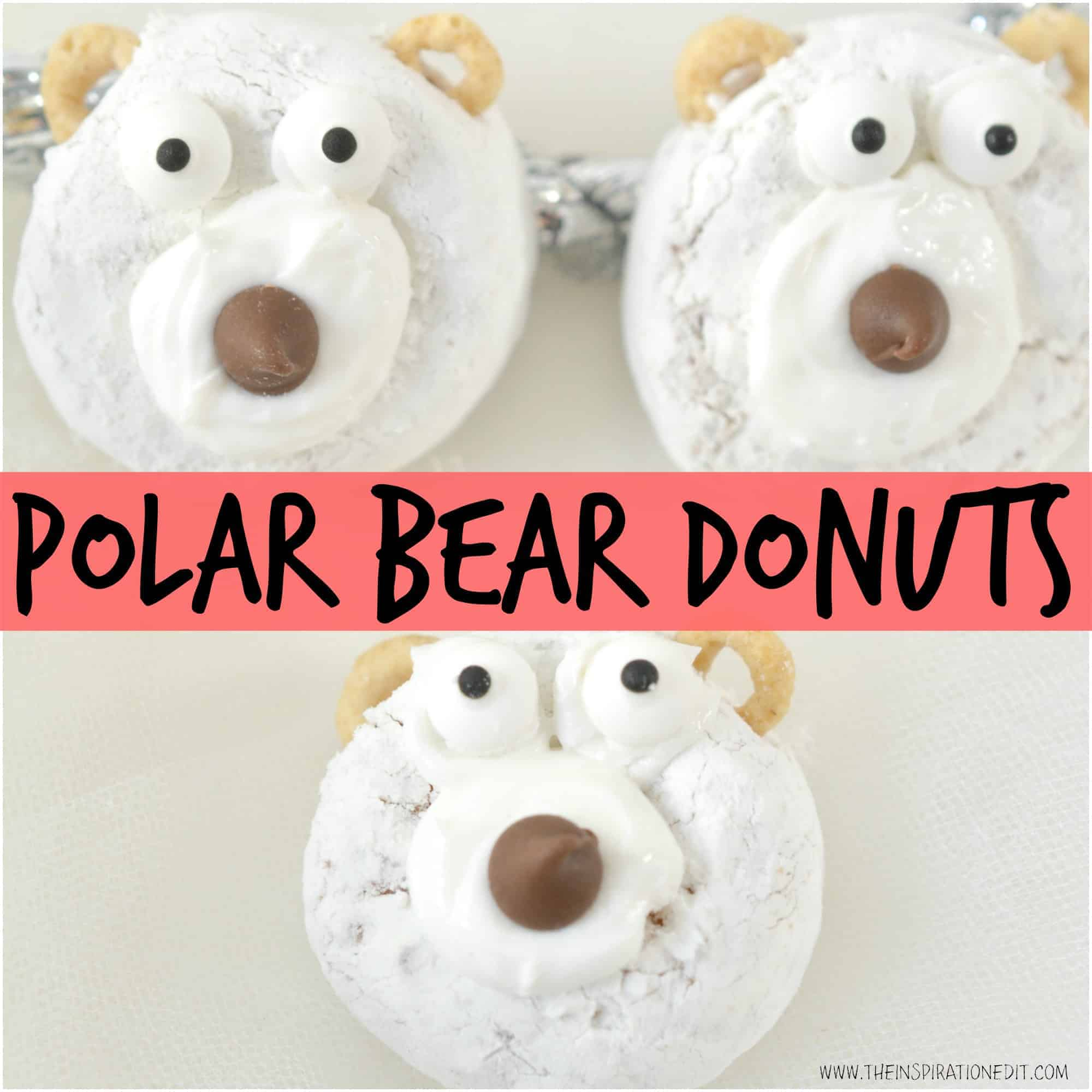 POLAR BEAR CHRISTMAS DONUTS