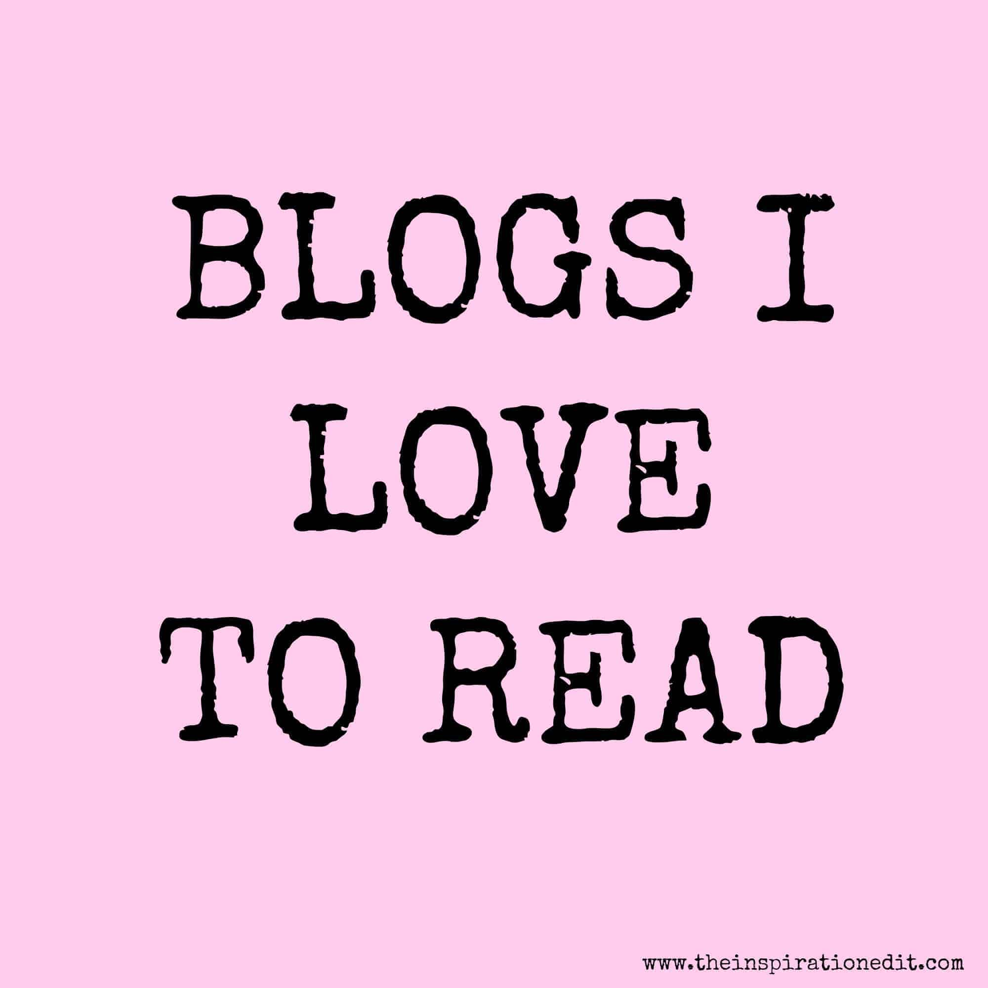 blogs i love to read