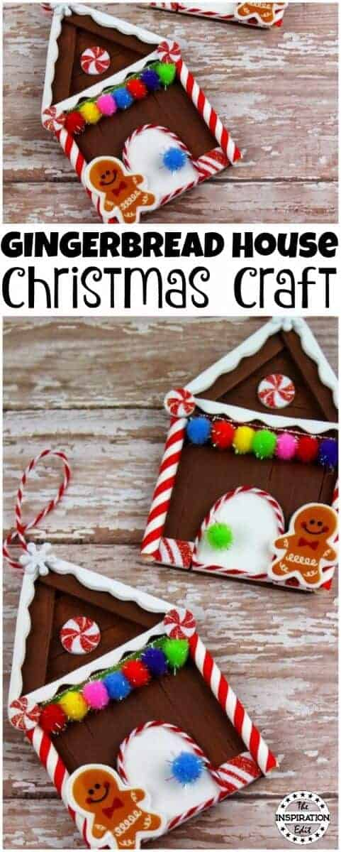 Gingerbread House christmas craft idea
