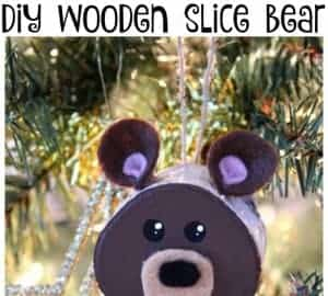 wooden slice bear