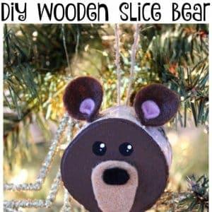 wooden slice bear