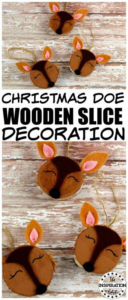 Wood Slice christmas DIY Christmas Decorations