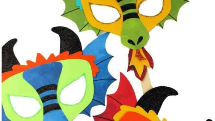 how to make a chinese new year dragon craft dragon mask for preschool kids