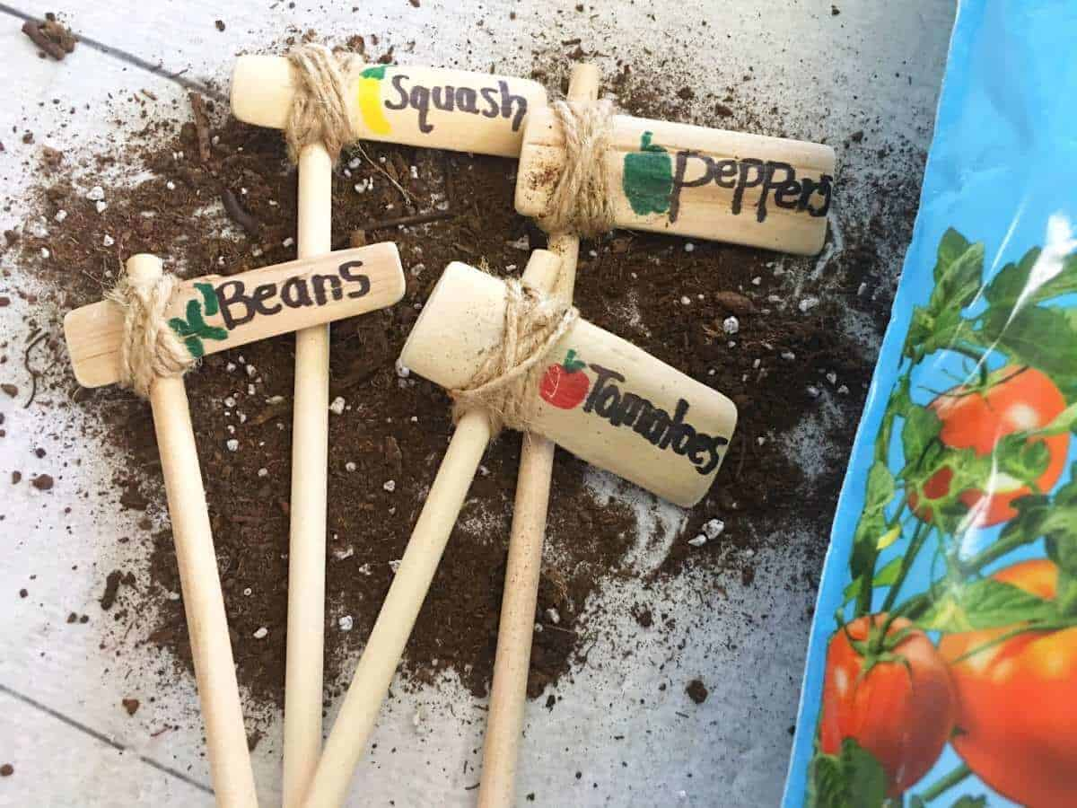 diy vegetable garden markers